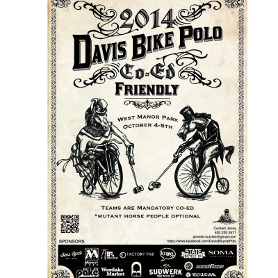 Davis bike polo friendly tournament 2014
