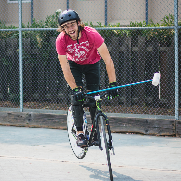 Davis Bike Polo player
